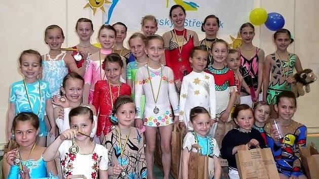 Úspěšná výprava břeclavských gymnastek si ze Zlína odvezla kupu medailí.