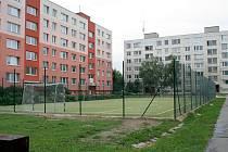 Nové hřiště na sídlišti Na Valtické v Břeclavi.