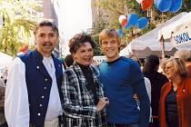 Břeclavan František Varga (na snímku vlevo) se setkal s Alenou Vrzáňovou v New Yorku.