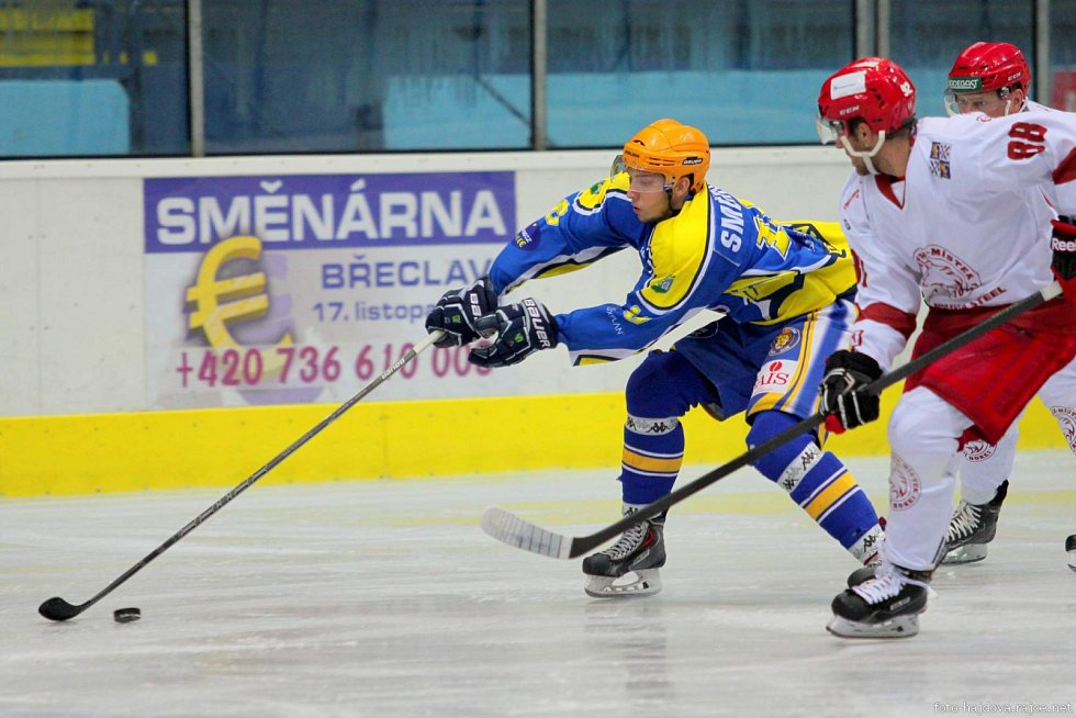 Hokejisté Břeclavi doma kousali, ale Frýdek-Místek byl nad jejich síly. Lvi doma padli, s favoritem prohráli až příliš krutým výsledkem 2:7.