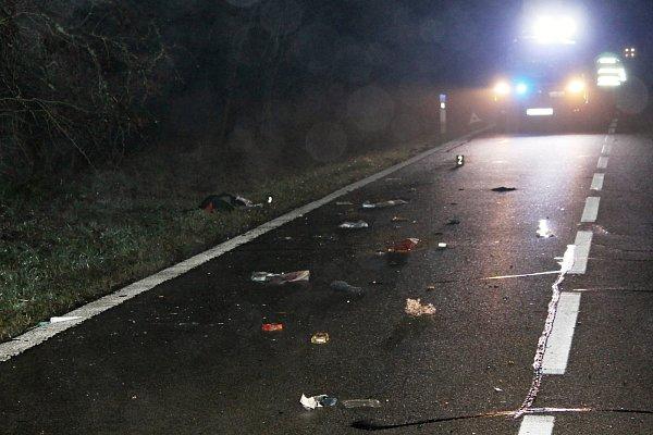 Při večerní vážné nehodě uBřeclavi srazilo auto chodce.