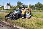 Nehoda zablokovala u Mikulova provoz na silnici I/52.