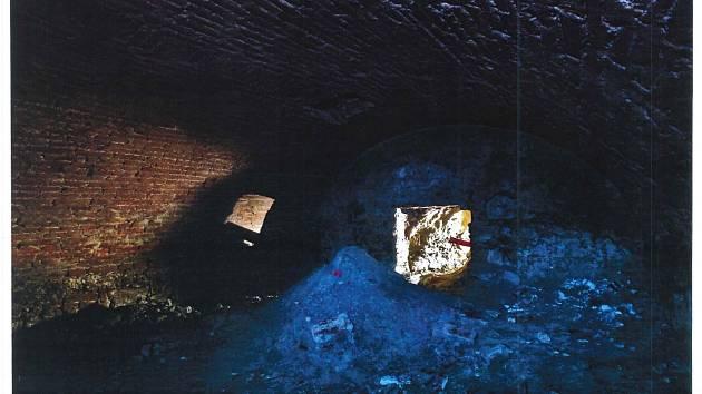 Jedna z podzemních chodeb.