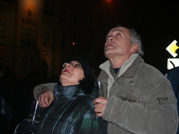 Silvestrovské oslavy příchodu roku 2011 v Břeclavi.