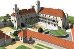 Vizualizace nádvoří zámku