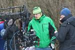 Filmaři dotáčeli ve Valticích zimní scény k pohádce Sněžný drak.