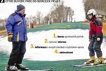 Nejníže položený lyžařský svah ve střední Evropě, sjezdovka v Němčičkách, odstartuje v neděli novou lyžařskou sezónu. Zahájení nabídne lyžování na umělém povrchu i burzu sportovních potřeb.