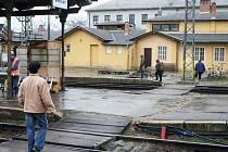 Břeclavské nádraží v době zahájení rekonstrukce.