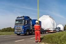 Obří transport projel Vysočinou i jižní Moravou.