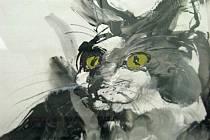 Zuzana Kadlecová zaplnila v srpnu Galerii 27 obrazy koček, koní a žen.