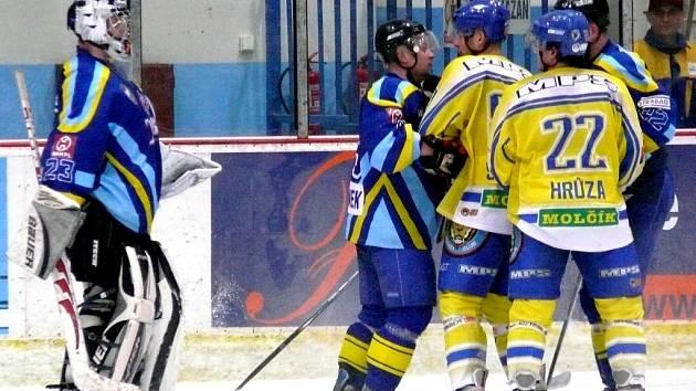 HC Břeclav – HC Zubr Přerov, druhá liga, středa 10. prosince 2008