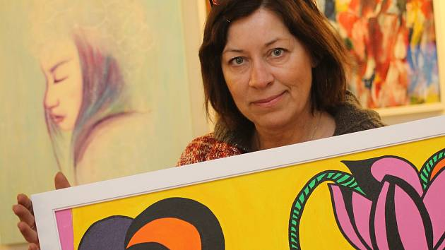 Provozovatelka galerie Efram Sylva Chludilová.