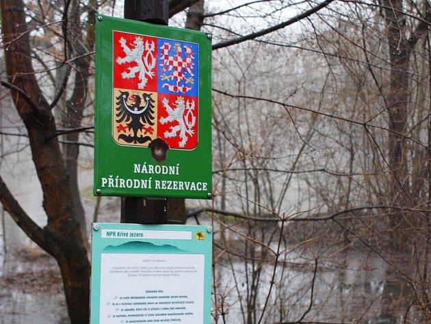 Zaplavená Národní přírodní rezervace Křivé jezero.