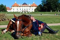 Chovatelka koní Kristina Lejsková ze Šitbořic a její ryzák Corrin.