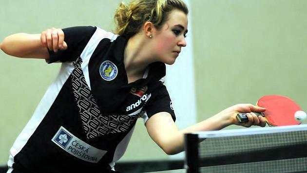 Břeclavská stolní tenistka Kristýna Mikulcová.