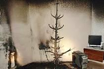 Po požáru vánočního stromu v Mikulově se škoda vyšplhala na sto tisíc korun.