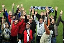 Fotbalisté béčka Charvátské Nové Vsi hrající IV. třídu navštívili zápas Gambrinus ligy v Uherském Hradišti.
