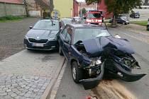 Vážné následky měla dopravní nehoda, ke které došlo v Kurdějovské ulici v Hustopečích na Břeclavsku ve středu krátce po poledni.