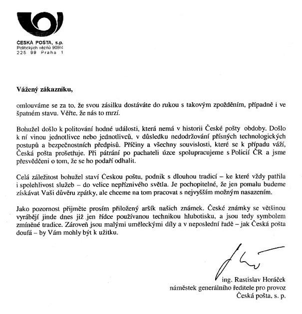 Omluvný dopis