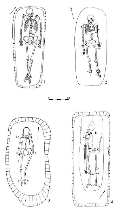 Ukázky keltských hrobů z regionu Pavlovských vrchů