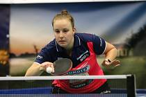 Vítězství Karin Adámkové (na snímku) nad Slovenkou Labošovou bylo klíčem k břeclavské výhře.