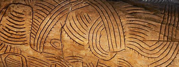 VArcheoparku vPavlově je kvidění originál mamutího klu zPavlova.