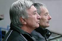 Břeclavští trenéři Číhal (vepředu) a Stloukal.
