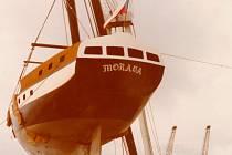 Čtyřiadvacetimetrová loď Morava, kterou vyrobil před pětatřiceti lety Čechoaustralan Larry Jan Ditter.