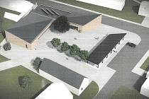 Vizualizace nového kulturního domu v Ivani.