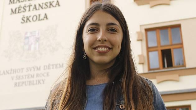 Mexická studentka Alexia Meza strávila týden v Břeclavi a Lanžhotě.
