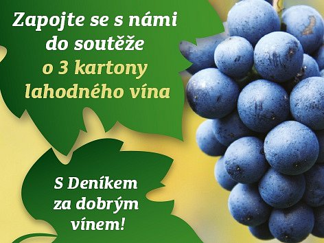 Zapojte se do soutěže o3 kartony lahodného vína.