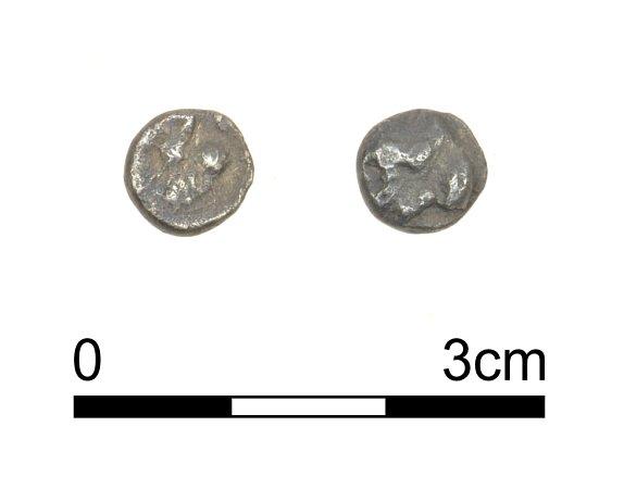 Stříbrná keltská mince zMušova – Na pískách