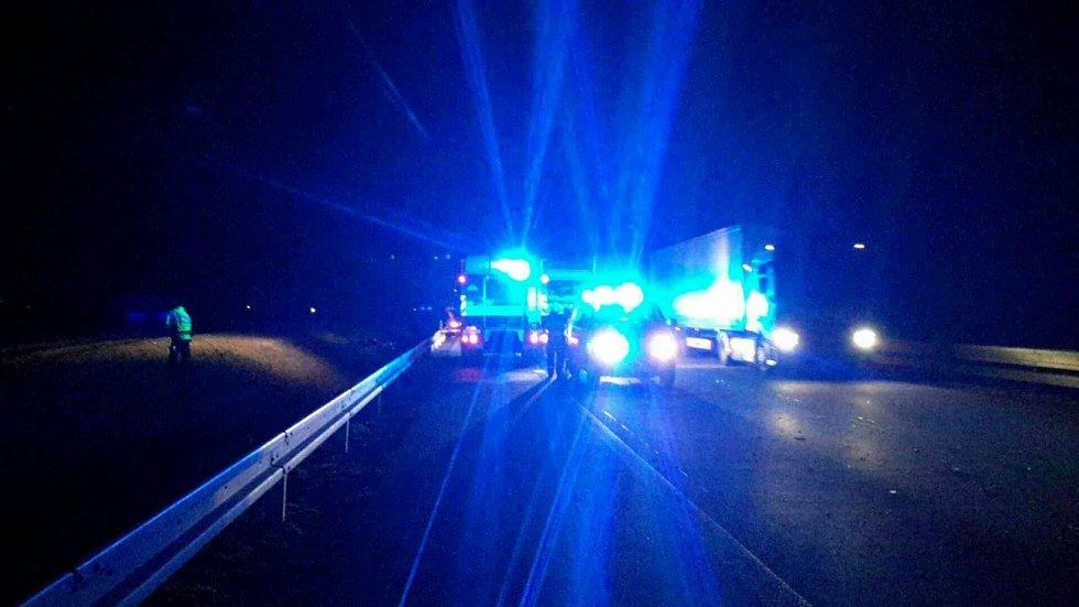 Hromadná nehoda na dálnici D2.