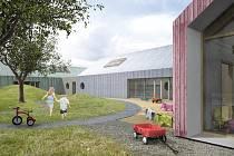 Vizualizace nové budovy mateřské školy a komunitního centra v Ladné.