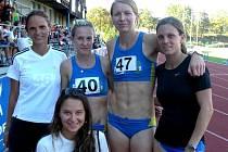 Atletka Štáhlová s číslem 47.