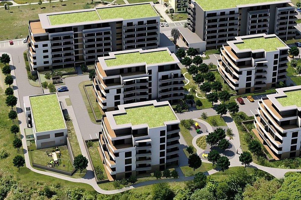 Třetí nejlidnatější kraj v republice je ten Jihomoravský. V blanenském sídlišti Písečná chce dvojice developerů postavit devět bytových domů s více než čtyřmi stovkami bytů.