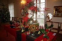 Rybniční zámeček zkrášlí vánoční výzdoba