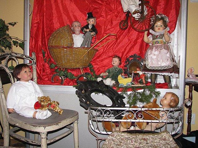 Vánoční výstava ve Vetešnictví U Pavoučka v Břeclavi.