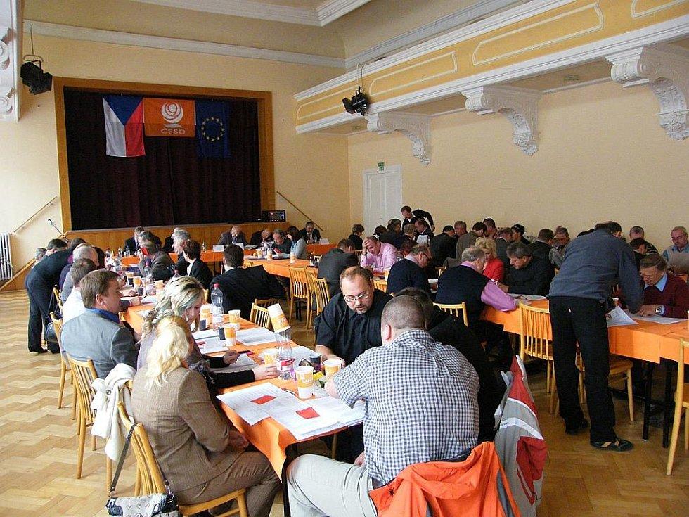 Konference ČSSD v Břeclavi.