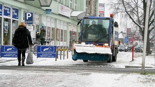 Břeclavany překvapila první sněhová nadílka.