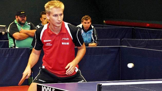 Ukrajinský hráč hustopečského Agrotecu Valeriy Rakov.
