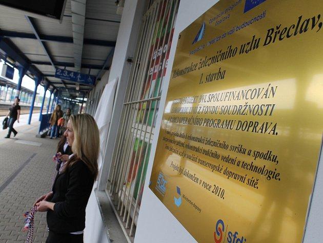 Slavnostní ukončení druhé etapy modernizace břeclavského železničního uzlu.