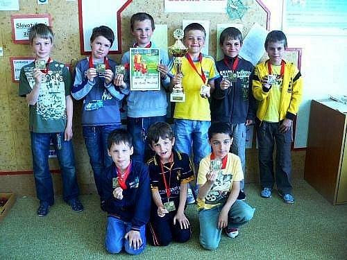 Úspěšný tým mladších žáků z velkopavlovické školy.