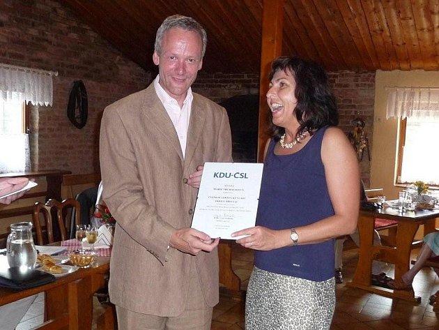 STÍNOVÁ MINISTRYNĚ. Bývalý šéf KDU–ČSL Cyril Svoboda jmenoval Marii Michalicovou i do lidovecké vlády okresu Břeclav.