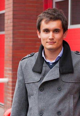 Členové dobrovolných záchranářů při pátrání po nezvěstných osobách cvičně zasahovali udopravní nehody. Mezi nimi itřiadvacetiletý Lukáš Klučka.