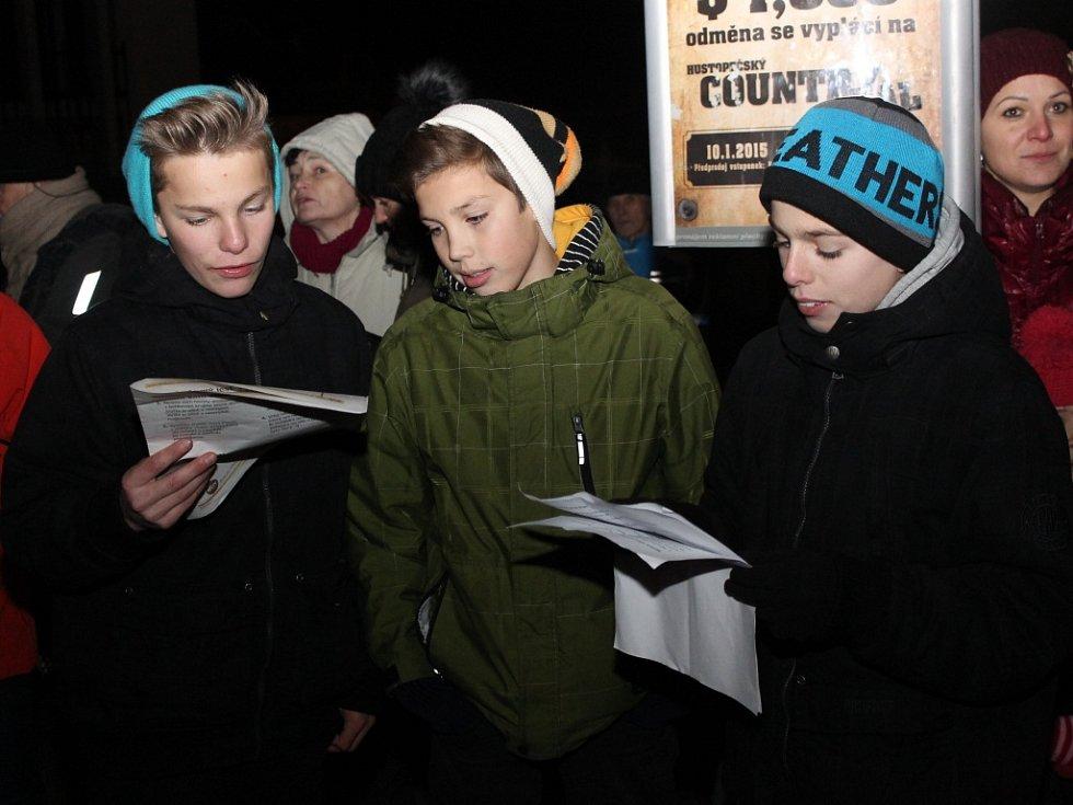 Zpívání koled v Hustopečích.