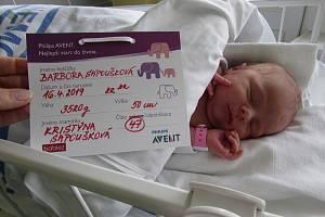 Barbora Sapoušková, Nemocnice Břeclav, 16. dubna 2019, 3520 g, 50 cm