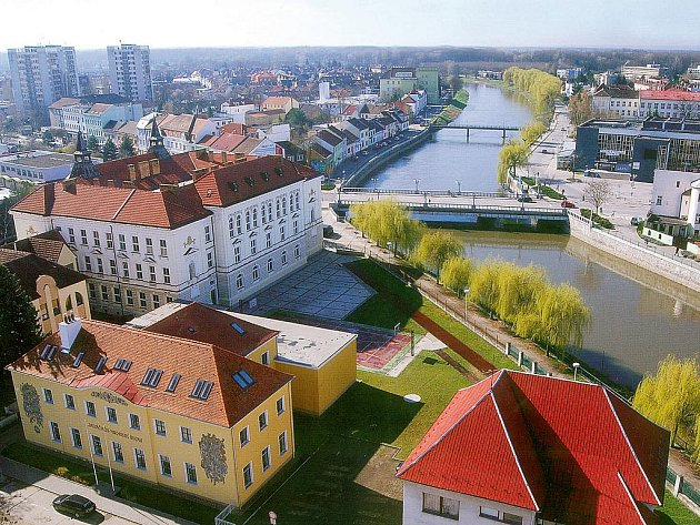 Pohled na město Břeclav. Ilustrační fotografie.