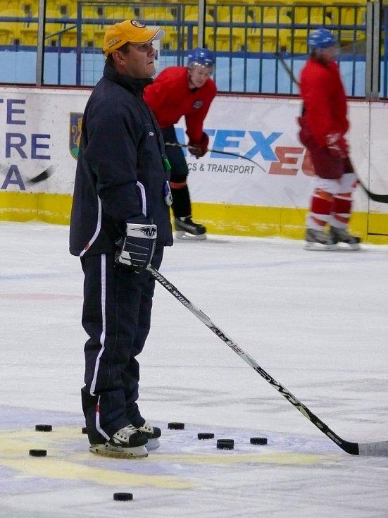 První trénink břeclavských hokejistů.