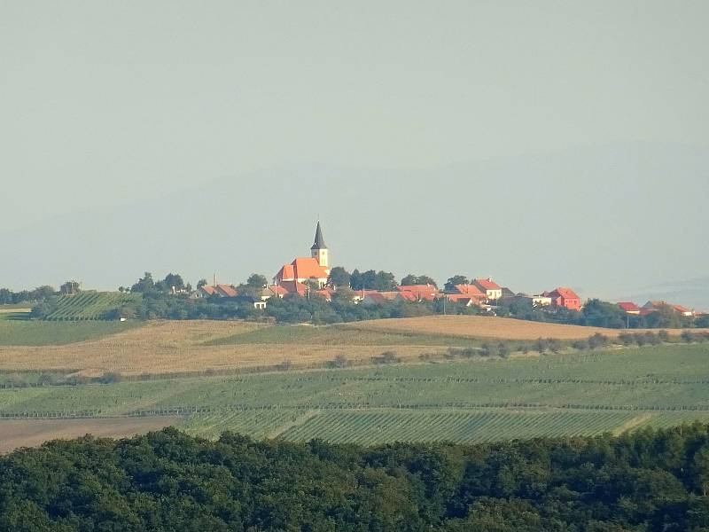 Z výletu do Klobouk u Brna a Boleradic.Pohled k Vrbici.
